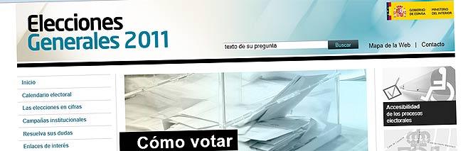 Web de las Elecciones 2011 del Ministerio del Interior